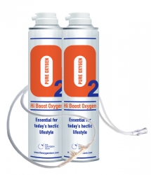 2 X O2 10 Litre Oxygen Cans Inc 1 x Cannula and Tubing