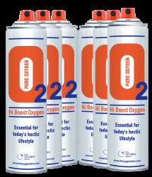 6 X O2 10 Litre Oxygen Cans Sport