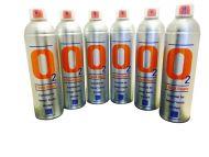 6 X O2 7.2 Litre Oxygen Cans