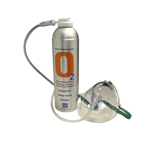 1 X O2 7.2 Litre Oxygen Can Inc 1 x Mask and Tubing